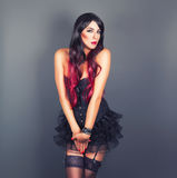 Beautiful Girl in the Gothic style Stock Photos