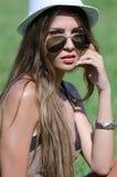 Beautiful girl on grass Royalty Free Stock Photos