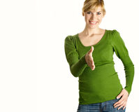 Beautiful girl in green Royalty Free Stock Photography