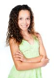 Beautiful girl in the green dress Royalty Free Stock Image