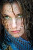 Beautiful girl with green eyes Stock Photos