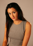 Beautiful girl with grey top. Portrait of beautiful girl with grey top Royalty Free Stock Photo
