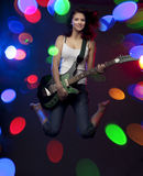 Beautiful girl with a guitar Royalty Free Stock Photo