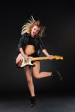 The beautiful girl with guitar Stock Photos