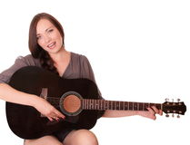 Beautiful girl with guitar Royalty Free Stock Photo