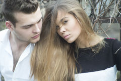 Beautiful girl and guy Stock Photography