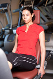 Beautiful girl in the gym Stock Photography
