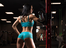 Beautiful girl at the gym Stock Images