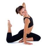 Beautiful girl gymnastics Stock Photos
