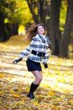 Beautiful girl with hair flying away Stock Image