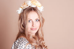 Beautiful girl with hairband Royalty Free Stock Photography