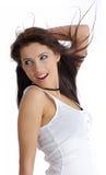Beautiful girl. hairstyle Stock Photo