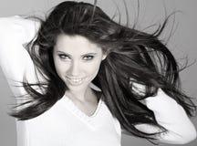Beautiful girl. hairstyle Royalty Free Stock Photo