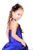 Beautiful girl with hairstyle in evening dress Royalty Free Stock Photo