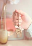 Vintage clock necklace Stock Photo