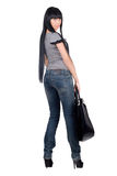 Beautiful girl with a handbag Stock Image