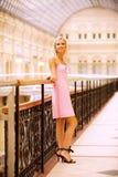 Beautiful girl at handrail Stock Photography
