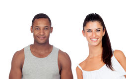 Beautiful girl and handsome guy stock photos