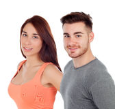 Beautiful girl and handsome man Royalty Free Stock Photography