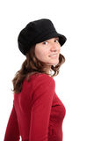 Beautiful girl with hat Stock Image