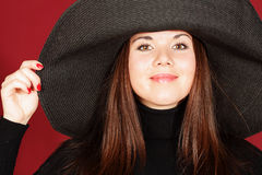 Beautiful girl in a hat Royalty Free Stock Images