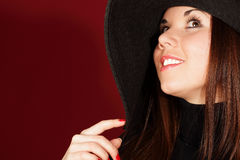 Beautiful girl in a hat Royalty Free Stock Image