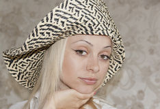 Beautiful girl in a hat. The beautiful girl in a hat Stock Photography