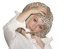 Beautiful girl in a hat. The beautiful girl in a hat Royalty Free Stock Photos