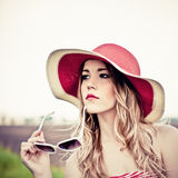 Beautiful girl in the hat Royalty Free Stock Photo