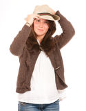 Beautiful Girl with hat Royalty Free Stock Images