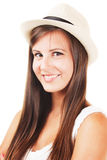 Beautiful girl with a hat Stock Photography