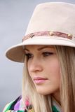 Beautiful girl in hat Stock Image