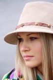 Beautiful girl in hat Stock Image