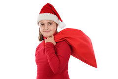 Beautiful girl with hat of christmas Royalty Free Stock Photo