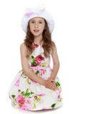 Beautiful girl in hat Royalty Free Stock Image