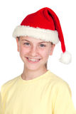 Beautiful girl with hat of Santa Claus Stock Images