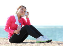 Beautiful girl have a break Stock Images