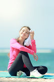 Beautiful girl have a break Royalty Free Stock Images