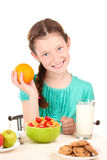 beautiful girl have a breakfast Royalty Free Stock Photo