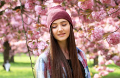 Beautiful girl have fun Stock Photography