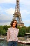 Beautiful girl have fun in the Paris. Stock Photo