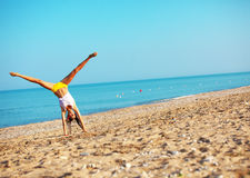 Sports at beach Royalty Free Stock Photography