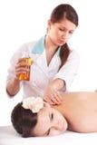 Beautiful  girl having  massage. Stock Images