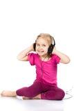 Beautiful girl in headphones Stock Photos