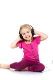 Beautiful girl in headphones Stock Photos