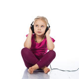 Beautiful girl in headphones Stock Photo
