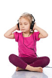 Beautiful girl in headphones Stock Photography