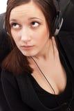 Beautiful girl with headphones Stock Photos