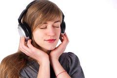 Beautiful girl with headphones Stock Photo