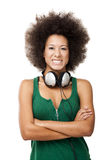 Beautiful girl with headphones Stock Photo